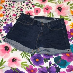 Gap Real Straight Cuffed Denim Shorts | 32